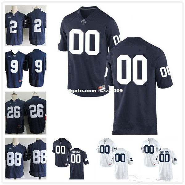 Custom Penn State Nittany Lions College Football Limited white Navy Blue Men Personalized Stitched Any Name Number 26 9 2 88 Jerseys XS-5XL