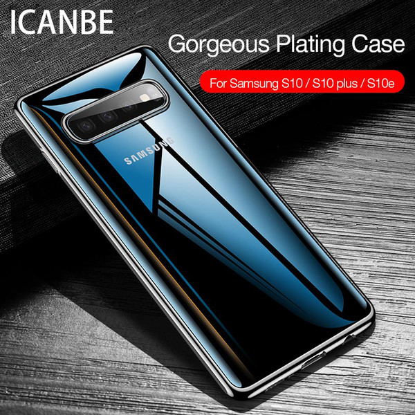 Роскошь покрытие прозрачный чехол для Samsung Galaxy S10 Plus S10e мягкий тпу тонкий силиконовый чехол бесплатная доставка