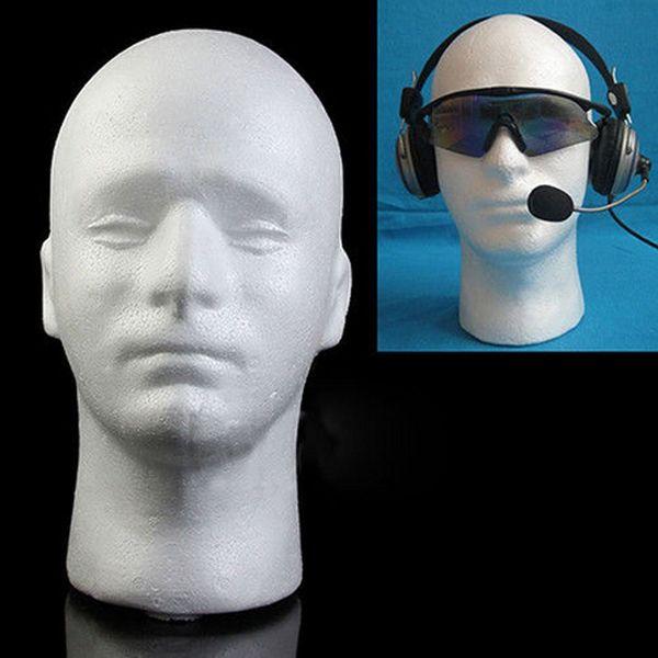 Femminile Styrofoam Mannequin parrucca Cappello Occhiali Display Stand titolari Popolare testa di schiuma bianca modello di archiviazione 1PC
