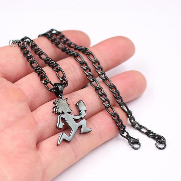 wholesale stainless steel MINI 1'' HATCHETMAN ICP Pendant Necklace Curb chain Black punk jewelry