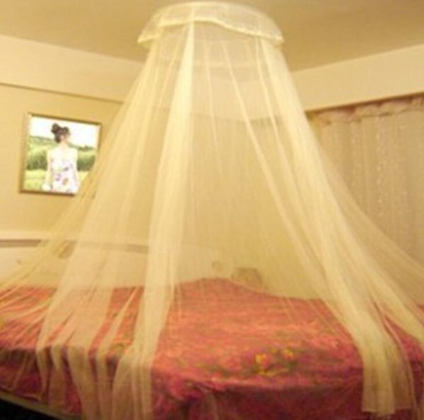 4colors Elegant Round Lace Insect Bed Canopy Netting Sheer Curtains Dome Mosquito Net New House Bedding