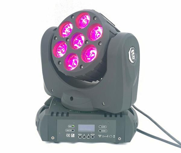 7x20W feixe de LED movendo a cabeça luz rgbw 4in1 9/16 canais dmx para luzes de discoteca dj lavar efeitos de iluminação de palco