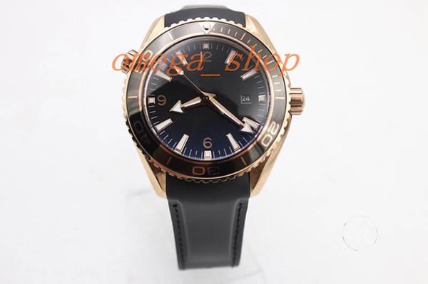 2018 luxury brand designer watch gold case sea star ball ocean men's gift automatic movement glass back transparent rubber belt watch