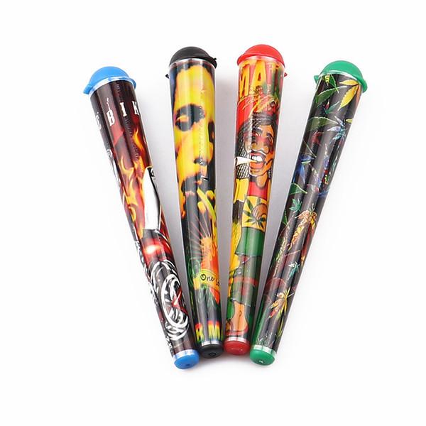 Plastica all'ingrosso King Size tubo Doob 115 MM comune Cono Vial impermeabile Airtight Odore prova carta di rotolamento Bagagli Bagagli