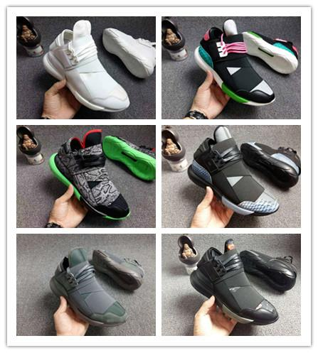 Wholesale 12 Colors Y-3 QASA RACER Hight Casual Shoes Sneakers Breathable Men and Women Casual Shoes Couples Y3 Shoes Size Eur36-44 027