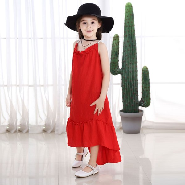 22cb0bd734e6 New baby girls dress summer style sleeveless fancy dress for girls party  beach baby kids fashion clothes children