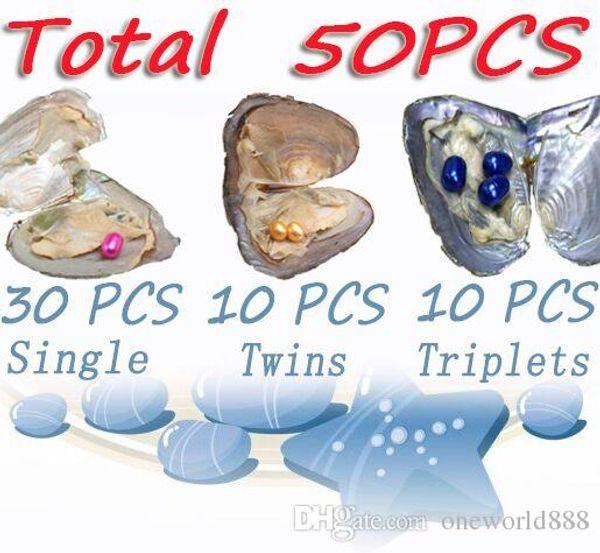 JNNM 50 STÜCKE Austern Set Reis Perle Süßwasser Shell