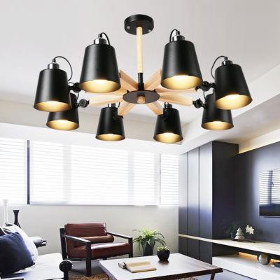 Luzes de teto de madeira modernas coloridas da forma Lamparas a máscara minimalista do projeto da sala de jantar de Luminaire ilumina a lâmpada do teto