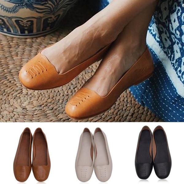Sapatos femininos plataforma de couro genuíno Verão Mulheres Retro Sandálias Não-Deslizamento Plana Praia Sapatos Casuais Bombas Dedo Do Pé Aberto # 4gh