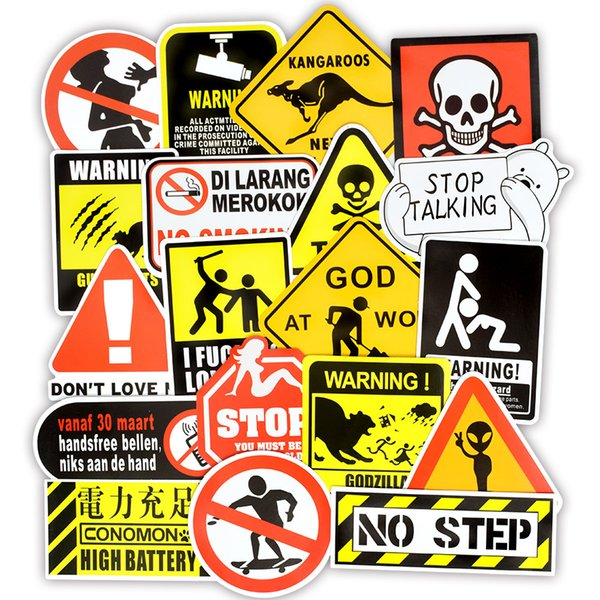 2019 Warning Stickers Danger Banning Signs Reminder Waterproof Decal Sticker To Diy Laptop Motorcycle Luggage Snowboard Car From Worldsale123 1 21