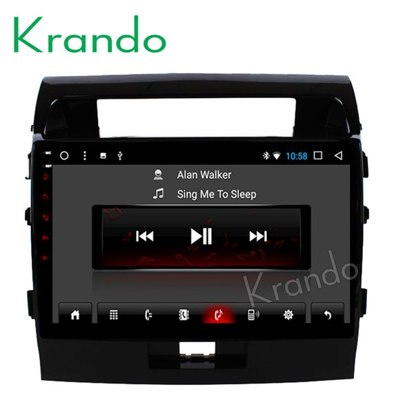 "Krando Android 8.1 10.1"" IPS Touch screen car multimedia system for TOYOTA LAND CRUISER LC200 2008-2015 radio player gps wifi BT car dvd"