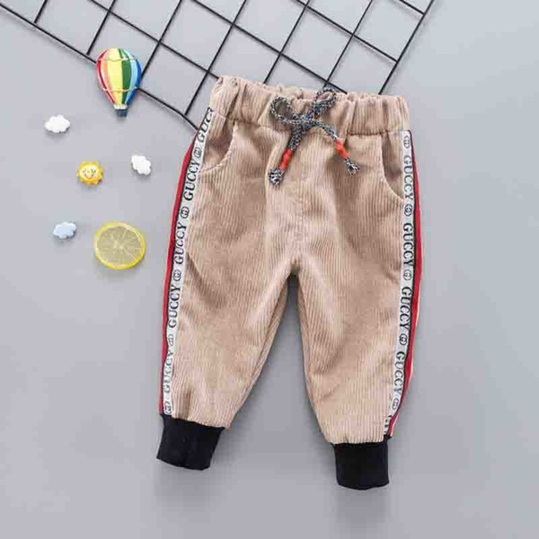 good quality Autumn Winter New Newborn Pants Infant Boys Striped Casual Pants Toddler Fashion Cotton Trousers Suitable For 0-2Y Baby