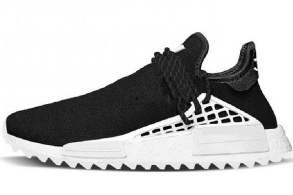 human race hu trail pharrell williams men running shoes nerd black cream mens trainer women designer sports runner sneakers size36-45