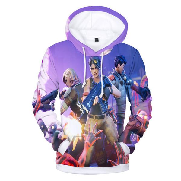 Полный печати Fornite толстовки с капюшоном флис толстовка молодые мужчины Женщины Повседневная уличная пуловер Sweatershirts для любителей игр