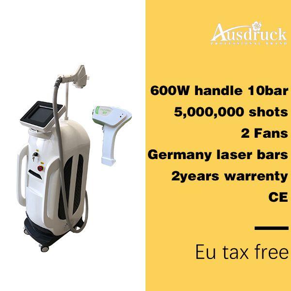 Pro Melhor preço 600 W permanente depilação depilacion portátil rápido 808 diodo laser máquina de depilação Ce certificado de 2 anos warrenty