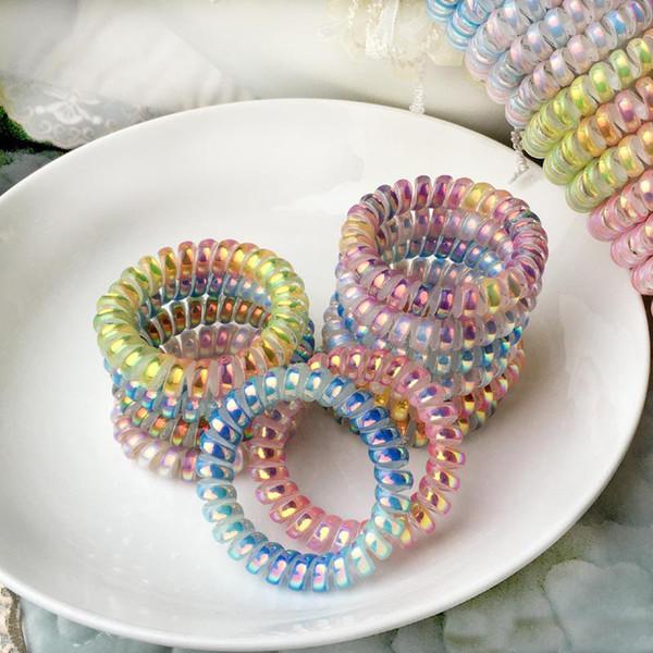 Kız kadınlar için scrunchies Saç Aksesuarları Şapkalar Halat Elastik Hairbands saç Kravat Telefon Tel saç halka Tasarımcı Takı