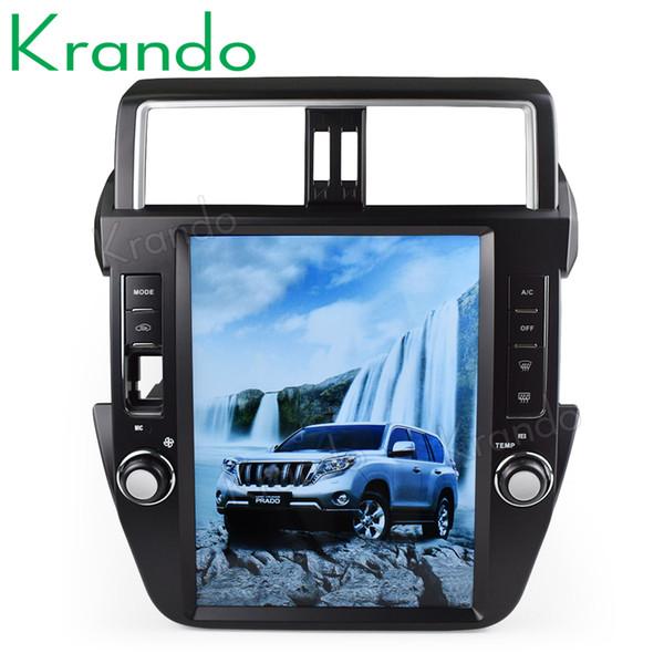 "Krando Android 6.0 12.1"" Tesla big screen car dvd radio player for Toyota Prado 150 2014-2017 gps navigation multimedia with bluetooth"