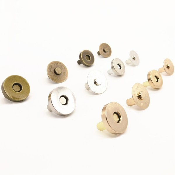 5pcs Magnetic Clasp Purse Snaps Closures 18mm Round Sewing Button Bag Press Stud