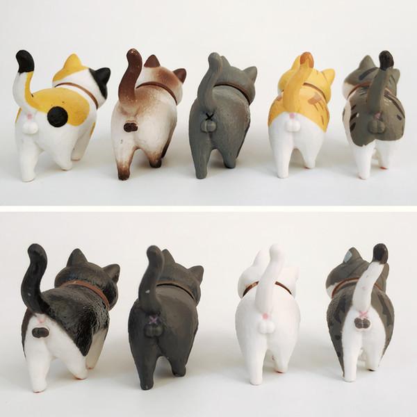 9 Peças / Set Modelo Dos Desenhos Animados Super Bonito Novo Tio Ma Gato Boneca Brinquedos Fantasia Criações Enfeites de Carro PVC Casa Decoração L207
