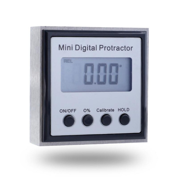 top popular New metal digital inclinometer stainless steel angle measuring instrument with magnetic digital display angle ruler 4x90 metric angle 2021