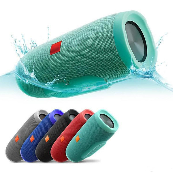 2019 New Charge 3 Wireless Bluetooth Speaker With Power Bank Function TF Card Portable Waterproof Free Shipping