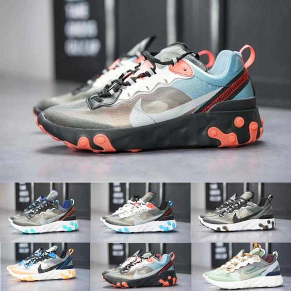 2019 React Element 87 55 running shoes for men women white black Royal Tint Desert Sand designer breathable sports sneaker BE-1698