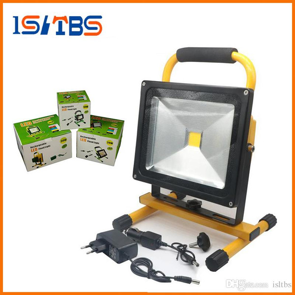 Led Rechargeable Floodlight 10w 20w 30w 50w Cordless Rechargeable Led Flood Light Spot Portable Led Work Light Lamps Weather Resistant Pir Led