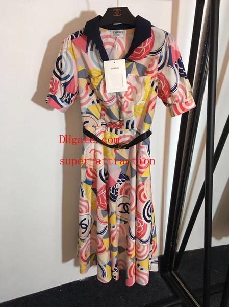 Платье Горячие продажи 2019 бренд летние платья Печатный Тонкая юбка женская одежда высокого качества Повседневные летние платья женские комбинезоны женские платья1