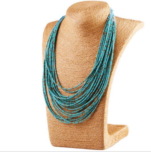 L'Europe et l'Amérique rétablissent les anciennes méthodes mi zhu hyperbole collier de caractère individuel boximiya gouttes collier de collier de nouveau style
