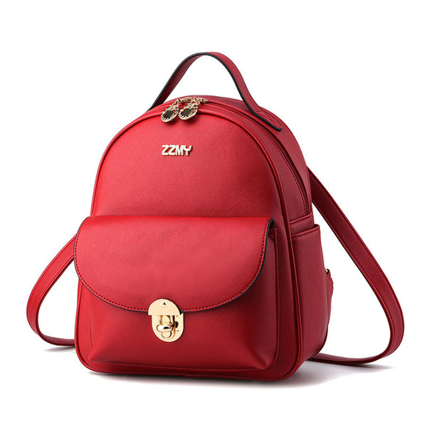 2019 designer backpack wave female backpack spring and summer new student fashion stitching Korean version of the female bag2