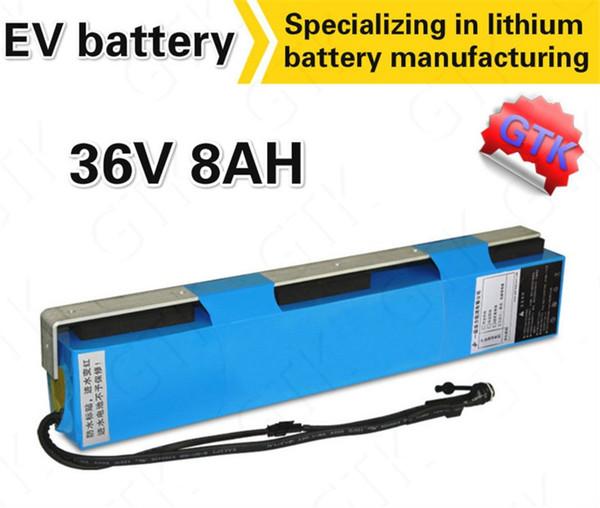 Batterie ebike 36v 8AH avec chargeur 2A Bande en aluminium BMS 36V kit 500W velo electrique avec batterie Batterie au lithium de 36v