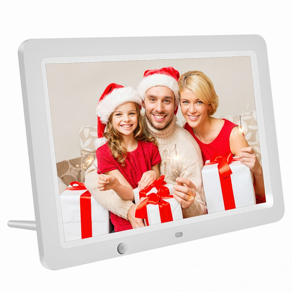 Kablosuz Uzaktan Kumanda Müzik MP3 Video MP4 Sıcak 12 inç HD Dijital Fotoğraf Çerçevesi Hareket Sensörü 8GB Hafıza LED Resim Çerçevesi