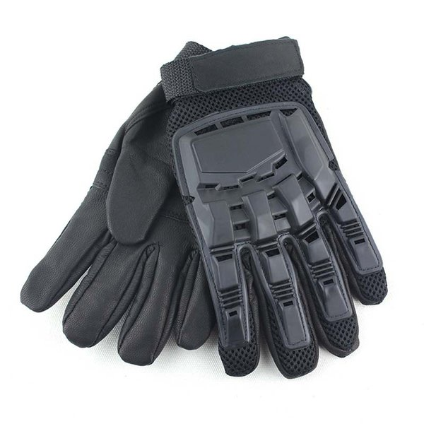 Black Classic Transformers Full Finger Sheepskin Gloves Outdoor Cycling Motorcycle Racing Mountaineering Hiking Protective Gloves M330Z
