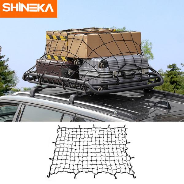 Car Van Elastic Bungee Roof Cargo Net Luggage Rack Basket Secure Net w// 12 Hooks