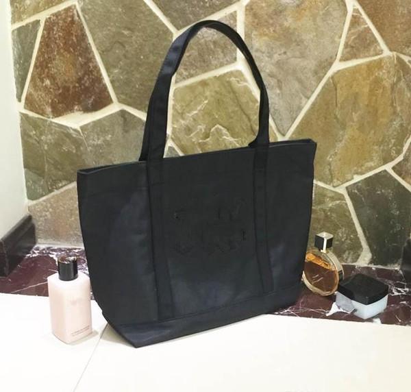 1b9bface3c6c Роскошный логотип сумка для покупок Блестки Толстые Оксфордские сумки  классическая модель Дорожная сумка для женщин Washbag