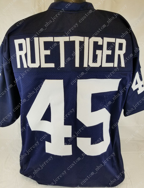Cheap custom Rudy Ruettiger Blue College Football Jersey Customized Any name number Stitched Jersey XS-5XL