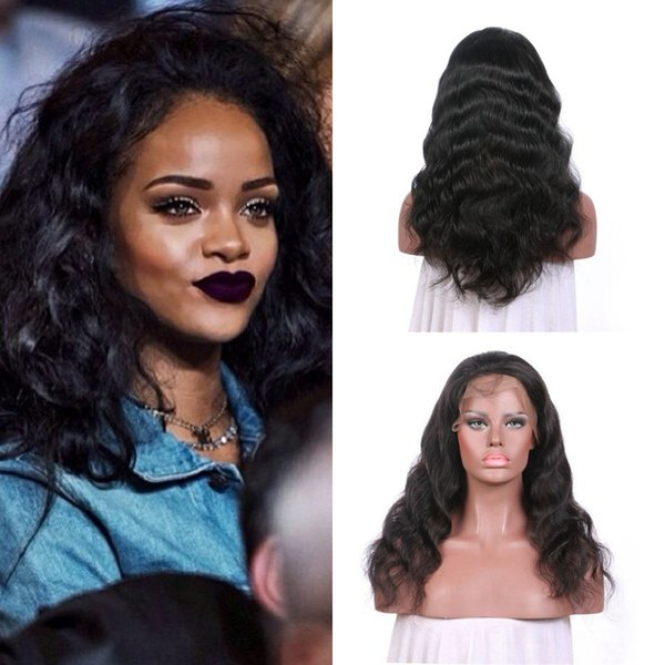 Best Selling Products Lace Front Wigs Body Wave With Baby Hair Natural Color Full Lace Wigs 100% Natural Human Hair G-EASY