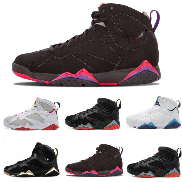 Hot Sale 7 Basketball Shoes Men 7s VII Purple UNC Bordeaux Olympic Panton Pure Money Nothing Raptor Zapatos Trainer Sport Shoe Sneaker