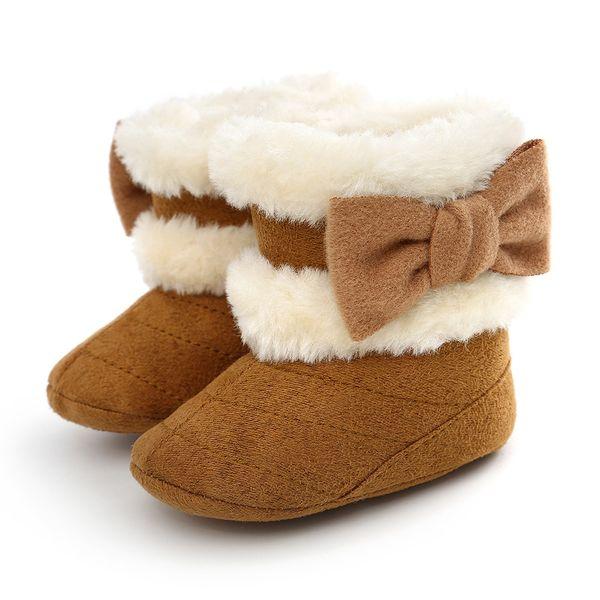 New Winter baby First Walker Boot per scarpe da apprendimento per bambina e antiscivolo Bow First Walking Shoes taglia 11/12/13 cm