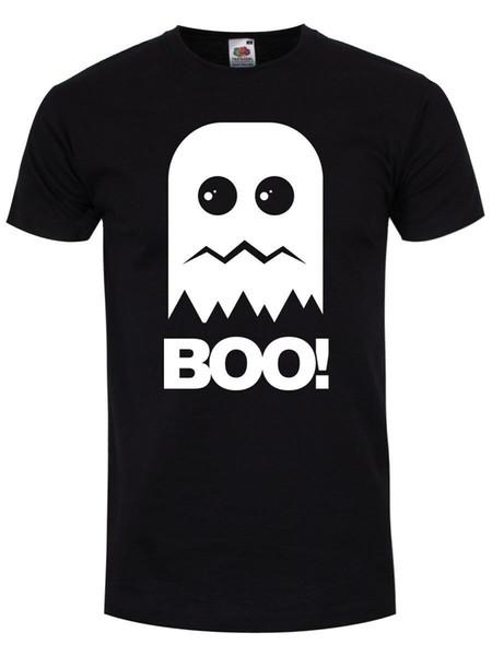 T-shirts Boo! Ghost Hommes Noir Taille Discout Hot Nouveau Tshirt Harajuku Eté 2018 Tshirt
