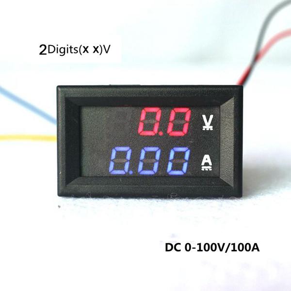 DC 100V/100A Car Digital LED Electrical Ammeter Voltmeter Ampere Voltage on voltmeter parts diagram, voltmeter block diagram, digital multimeter circuit diagram, voltmeter circuit diagram, simple led circuit diagram, voltmeter switch diagram,