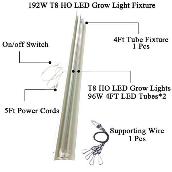 4 피트 T8 HO는 조명기구를 LED 성장