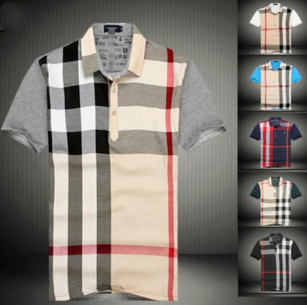 Großhandelssommer-heißer Verkaufs-Polo ShirtPolos-Mann-Kurzschluss-Hülsen-Sport-Polo-Mann-Mantel-Tropfen geben Verschiffen frei  lacoste Burberry short sleeve