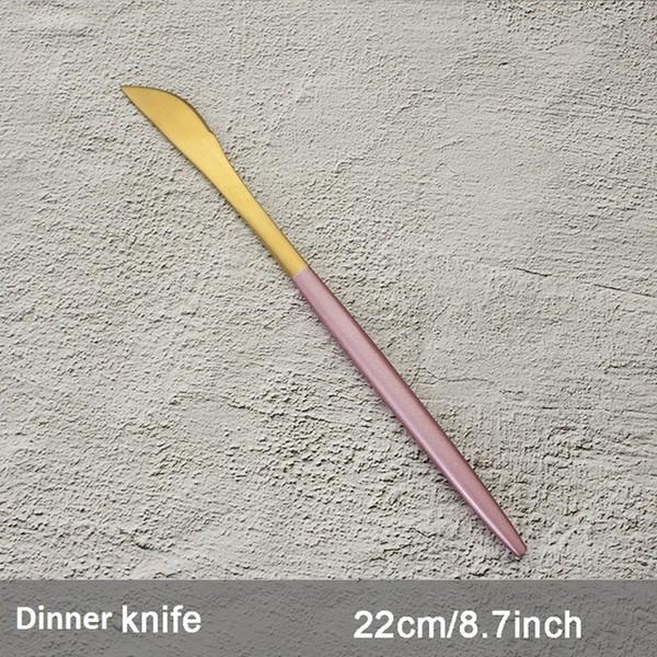 Color:Pink Dinner Knife