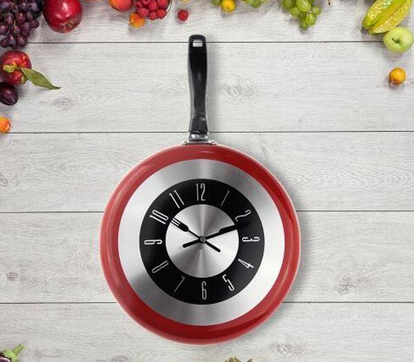 Compre Envío Libre De Alta Calidad Reloj De Pared De Metal Sartén Diseño  Relojes Cocina Decoración Novedad Art Watch Horloge Murale Relog A $16.66  Del ...
