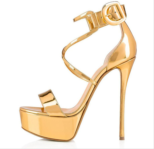 European and American fashion lady waterproof Taiwan fastener peep-toe slingback foreign trade high-heeled sandals amazon ebay supplies manu
