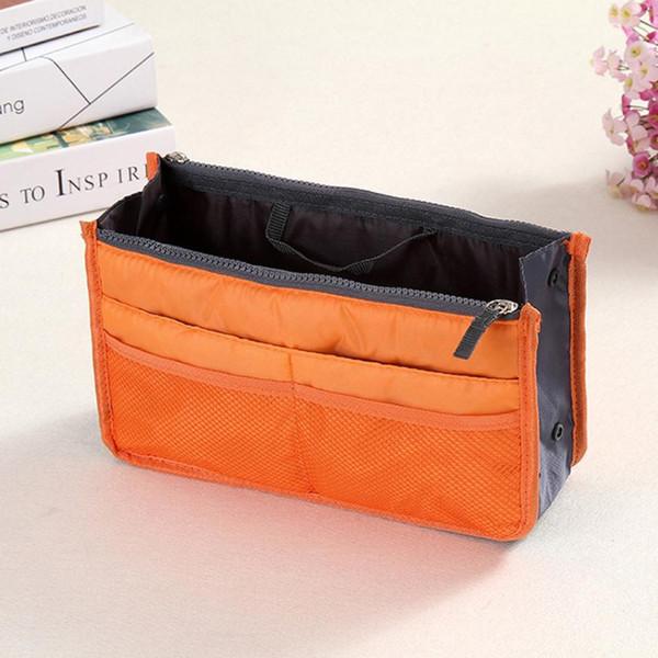 Multifunctional Travel Pockets Makeup Bag Women Handbag Purse Insert MP3 Phone Cosmetic Bag Organizer Portable Multi-color