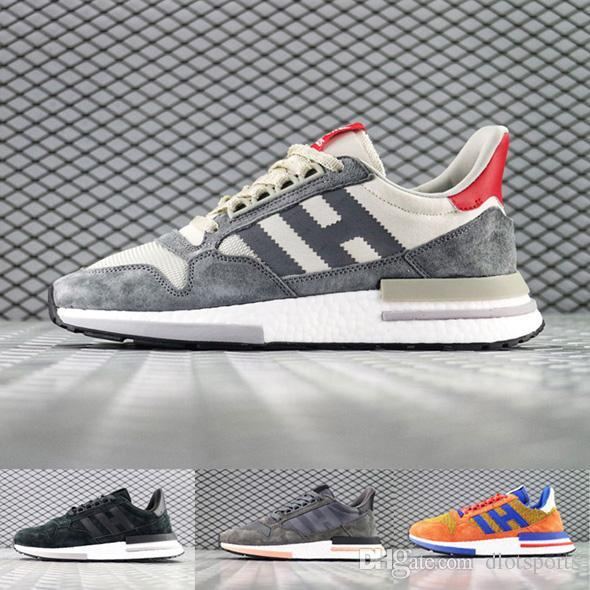 2019 New Designers Dragon Ball ZX 500 RM Goku Shoe Limited Edition Super Light Men Women Running Shoes ZX500 Designer Luxury Sneakers 97 Suede Shoes
