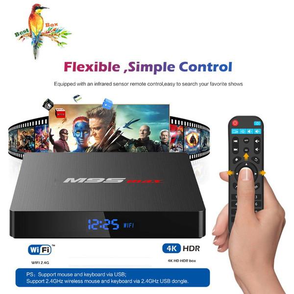 Hot M9S MAX Android TV Box 2GB 16GB Android 7.1 Amlogic S905W Quad Core Ultra HD 4K Streaming Media Player Better MXQ Pro TX3 X96 Mini
