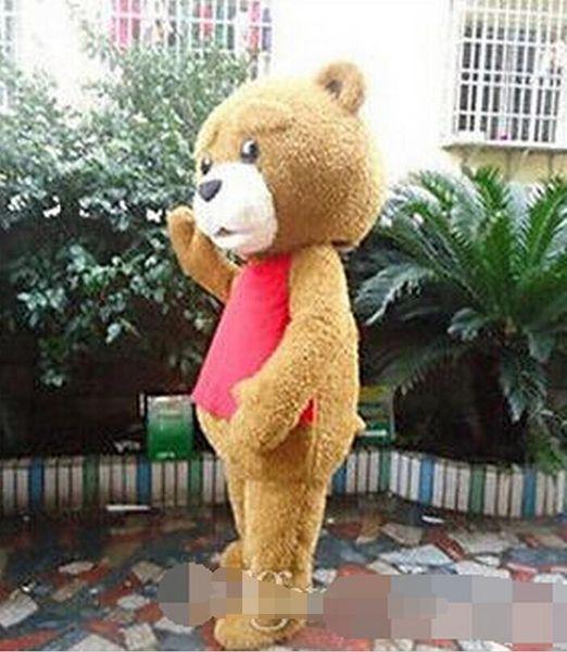 2019 Hottest Teddy Bear of TED Adult Size Halloween Cartoon Mascot Costume Chrismas Fancy Dress